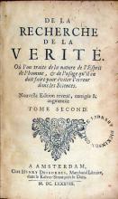 De La Recherche De La Verité..Nouvelle Edition.Tome Second