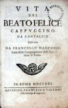 Vita Del Beato Felice Cappvccino, Da Cantalice