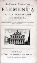 Sectionum Conicarum Elementa Nova Methodo Demonstrata