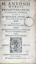Commentarii In Qvinqve Libros Annalivm Cornelii Taciti…