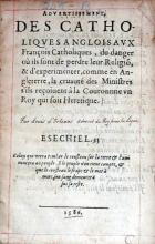 Advertissement, Des Catholiqves Anglois Avx François Catholiques...