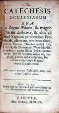 Catechesis Ecclesiarum Quae In Regno Poloniae...