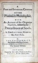 A Free and Impartial Censure of the Platonick Philosphie
