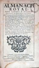 Almanach Royal, Pour l'Année M.DCCXVIII