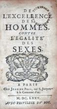 De L'Excellence Des Hommes, Contre L'Egalité Des Sexes