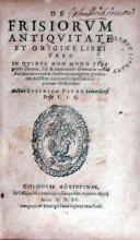 De Frisiorvm Antiqvitate Et Origine