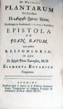 De Methodo Plantarum…Epistola ad Joan. Raium, Cum ejusdem...