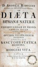 De Diaeta Humanae Naturae Ad Conservandam Et Prorogandam Vitam...
