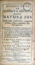 Υποθεσις Ηθικη De Finibus & Officiis secundum Naturae Jus