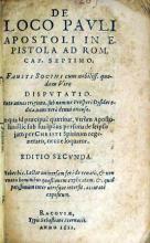 De Loco Pavli Apostoli in Epistola Ad Rom. Cap. Septimo