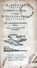 Commentationes, in aliquot M. Tvllii Ciceronis Orationes
