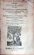 Vindex Veritatis. Aduersus Ivstvm Lipsivm Libri duo