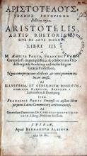 Τεχνης Ρητορικης βιβλια τρια...Artis Rhetoricae, sive de arte dicendi