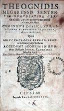 Sententiae Graecolatinae, Certis titulis…distinctae
