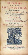 De Initiis Primae Philosophiae, Juxta fundamenta …Cartesii...