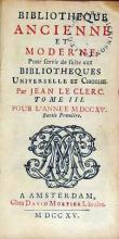 Bibliotheque Ancienne et Moderne. Pour servir de suite aux... (III)