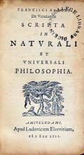 Scripta in Natvrali et Vniversali Philosophia