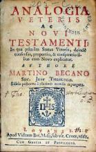 Analogia Veteris Ac Novi Testamenti:…Editio postrema