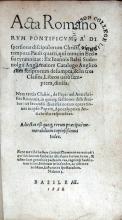 Acta Romanorvm Pontificvm