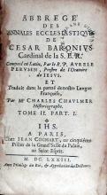 Abbregé Des Annales Ecclesiastiqves