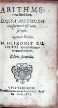 Arithmeticae libri duo, Logica Methodo conformati & conscripti...