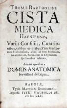 Cista Medica Hafniensis, .Accedit ejusdem Domus Anatomica (I)