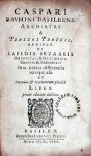 De Lapidis Bezaaris Oriental. & Occident. Cervin. & Germanici Ortu...