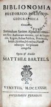 Biblionomia Historico-Politico-Geographica Continens Secundum Seriem...
