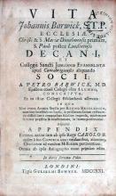 Vita Johannis Barwick, …Adjicitur Appendix Epistolarum tam ab ipso...