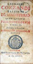 De Magisterio Antiqvorvm Philosophorvm