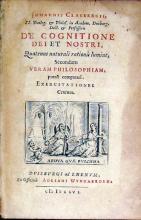 De Cognitione Dei et Nostri, Quatenus naturali rationis lumine...