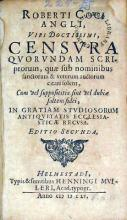 Censvra Qvorvndam Scriptorum, quae sub nominibus sanctorum...