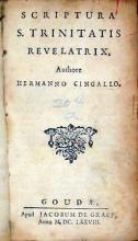 Scriptura S. Trinitatis Revelatrix