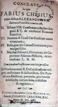 Conclave In quo Fabius Chisius nunc dictus Alexander VII...