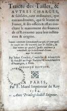 Traicté des Tailles, & Avtres Charges, & subsides...