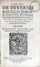 Ad Tit. De Diversis Regulis Juris, In Digestis Ultimum...