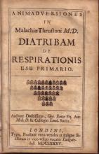 Animadversiones in Malachiae Thrustoni M.D. Diatribam de Respirationis...