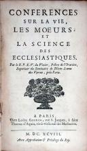 Conferences Sur La Vie, Les Moeurs, Et La Science Des Ecclesiastiques