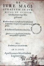 De Ivre Magistratvvm In Svbditos; et Officio subditorum erga Magistratus