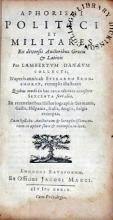 Aphorismi Politici et Militares Ex diversis Auctoribus Graecis & Latinis