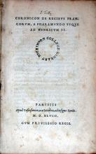 Chronicon De Regibvs Francorvm, A Pharamvndo Vsqve Ad Henricvm II