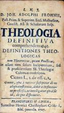 Theologia Definitiva comprehendens 1845. Definitiones Theologicas...