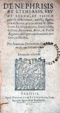 De Nephrisis Et Lithiasis, Sev De Renvm, et Vesicae calculi definitione...