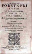 Ad libros sex priores Annalium C. Cornelii Taciti, Notae Politicae...