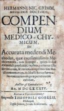 Compendium Medico-Chymicum, Seu Accurata medendi Methodus