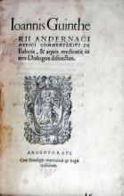 Commentarivs De Balneis, & aquis medicatis in tres Dialogos distinctus
