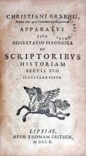 Apparatvs Sive Dissertatio Isagogica De Scriptoribvs Historiam...