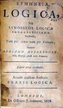 Ερμηνεια Logica, Seu Synopseos Logicae Burgersdicianae ..Accedit.. Praxis Logica