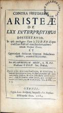 Contra Historiam Aristeae De LXX Interpretibus Dissertatio