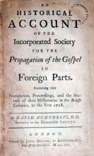 An Historical Account of the Incorporated Society for the Propagation...